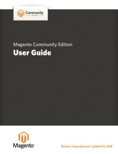 Magento Community Edition User Guide v. 1.9