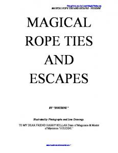 Magical Rope Ties & Escapes - Learn Free Magic Tricks