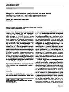 Magnetic and dielectric properties of barium ferrite ... - Springer Link