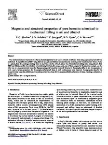 Magnetic and structural properties of pure hematite