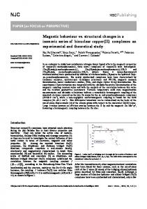 Magnetic behaviour vs. structural changes in a