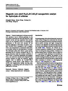 Magnetic core–shell Fe3O4@C-SO3H nanoparticle catalyst for