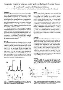 Magnetic Coupling Between Water and Metabolites in Human ... - ismrm