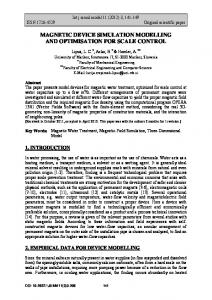 magnetic device simulation modelling - International Journal of ...