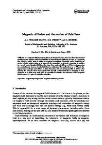 Magnetic diffusion and the motion of field lines