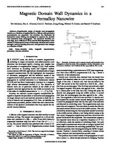 Magnetic domain wall dynamics in a permalloy nanowire - IEEE Xplore