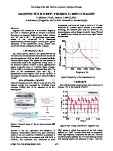 Magnetic Field Fluctuations in SC Dipole Magnet