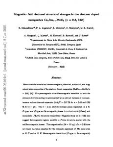 Magnetic-field-induced structural changes in the electron doped ...