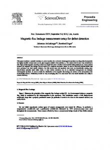 Magnetic flux leakage measurement setup for ... - ScienceDirect.com