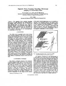 Magnetic force scanning tunneling microscope ... - Semantic Scholar