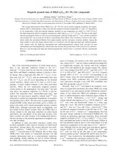 """Magnetic ground state of RBaCo2O5.5 """"RÄTb, Gd… compounds"""