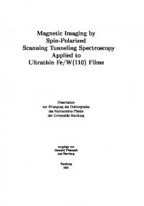 Magnetic Imaging by Spin-Polarized Scanning Tunneling ...