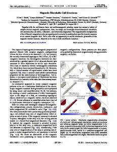Magnetic Microhelix Coil Structures - APS Link Manager