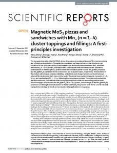Magnetic MoS2 pizzas and sandwiches with Mnn - Semantic Scholar