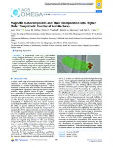 Magnetic Nanocomposites and Their Incorporation ... - ACS Publications