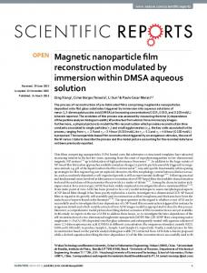 Magnetic nanoparticle film reconstruction modulated
