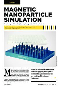 magnetic nanoparticle simulation - Ansys