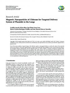 Magnetic Nanoparticles of Chitosan for Targeted Delivery System of ...