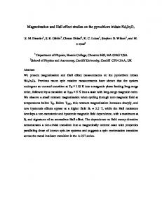 Magnetic order and the electronic ground state in the pyrochlore ...