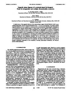 Magnetic phase diagram of a molecule-based ... - APS Link Manager