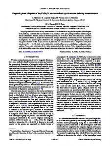 Magnetic phase diagram of Ba3CoSb2O9 as ... - APS Link Manager