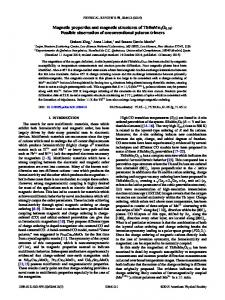 Magnetic properties and magnetic structures of TbBaMn2O5.75 ...