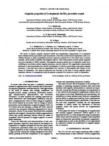 Magnetic properties of Co-implanted BaTiO3 ... - APS Link Manager