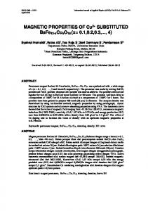 MAGNETIC PROPERTIES OF Cu2+ SUBSTITUTED