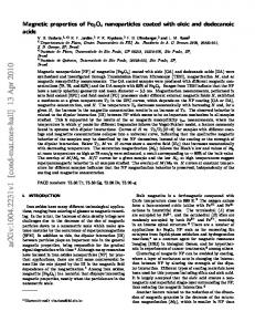 Magnetic properties of Fe3O4 nanoparticles coated with oleic and ...