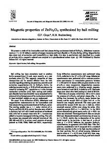 Magnetic properties of ZnFe O synthesized by ball milling - Ipen