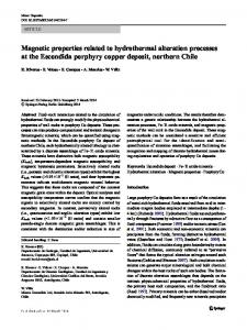 Magnetic properties related to hydrothermal alteration ...