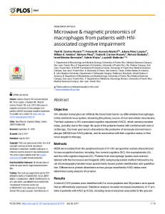 magnetic proteomics of macrophages from ... - Semantic Scholar