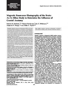 Magnetic Resonance Elastography of the Brain - Wiley Online Library