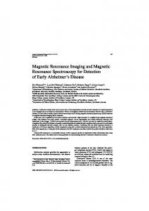 Magnetic Resonance Imaging and Magnetic