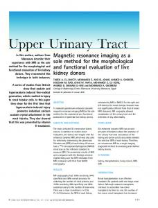 Magnetic resonance imaging as a sole method ... - Wiley Online Library