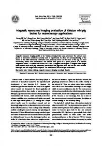 Magnetic resonance imaging evaluation of