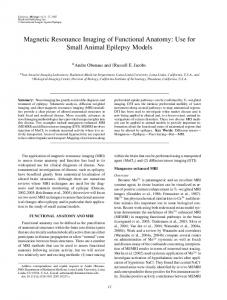 Magnetic Resonance Imaging of Functional ... - Wiley Online Library