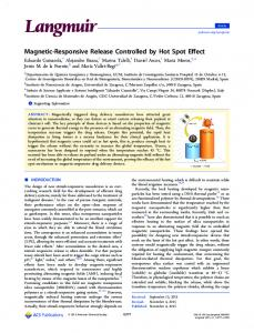 Magnetic-Responsive Release Controlled by Hot ... - ACS Publications
