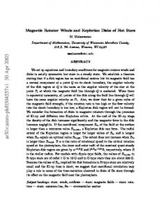 Magnetic Rotator Winds and Keplerian Disks of Hot Stars