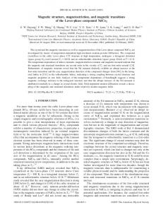 Magnetic structure, magnetostriction, and magnetic ... - Semantic Scholar