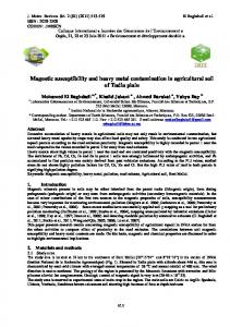 Magnetic susceptibility and heavy metal contamination in agricultural ...