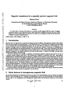 Magnetic translations for a spatially periodic magnetic field