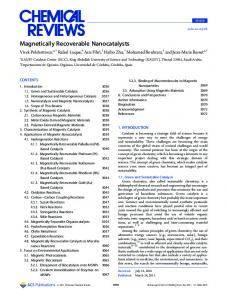 Magnetically Recoverable Nanocatalysts