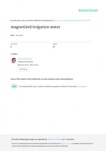 magnetized irrigation water