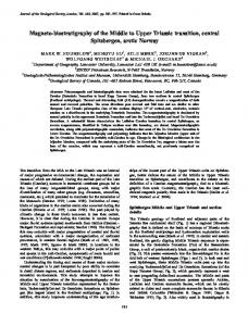 Magneto-biostratigraphy of the Middle to Upper Triassic ... - CiteSeerX