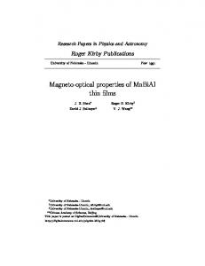 Magneto-optical properties of MnBiAl thin films