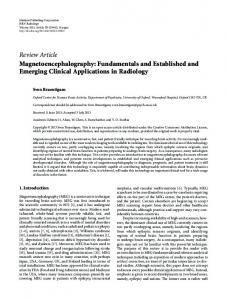 Magnetoencephalography: Fundamentals and Established and