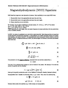 Magnetohydrodynamic Phenomena, Fluid Control     - J-STAGE
