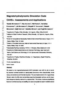 Magnetohydrodynamic Simulation Code CANS+: Assessments and ...