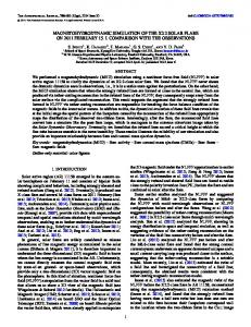 magnetohydrodynamic simulation of the x2.2 solar flare ... - IOPscience